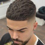 cortes de cabello para hombres franja recortada - crop + fringe