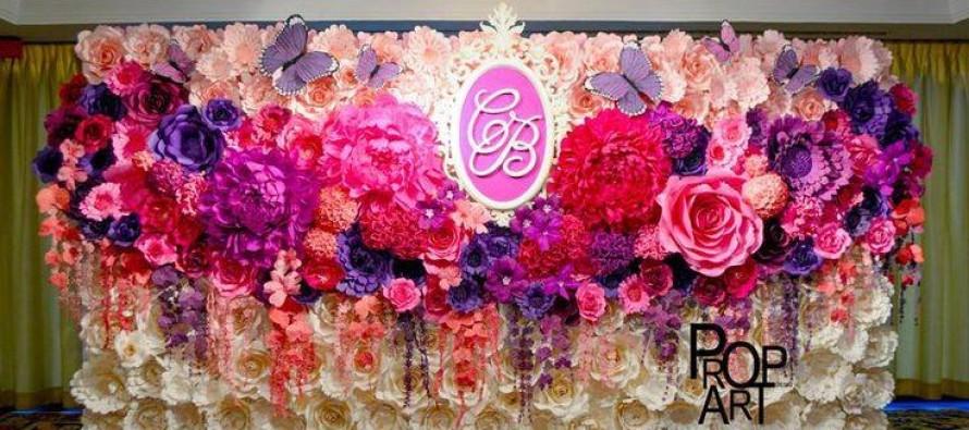 Decoracion con flores de papel curso de organizacion del for Decoracion con cenefas de papel