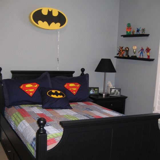 Decoracion de recamaras para ninos con super heroes 11 - Dormitorios infantiles ninos 3 anos ...