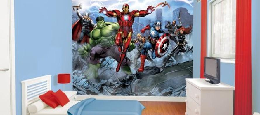 Decoracion de recamaras para niños con super heroes
