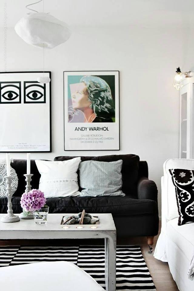Decoracion de salas blanco y negro 12 curso de for Curso decoracion interiores