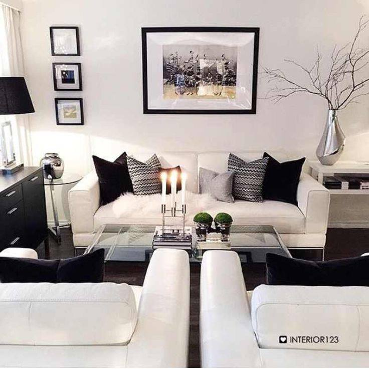 Decoracion de salas blanco y negro 14 curso de organizacion del hogar - Gorgeous pictures of black white and grey living room decoration ideas ...