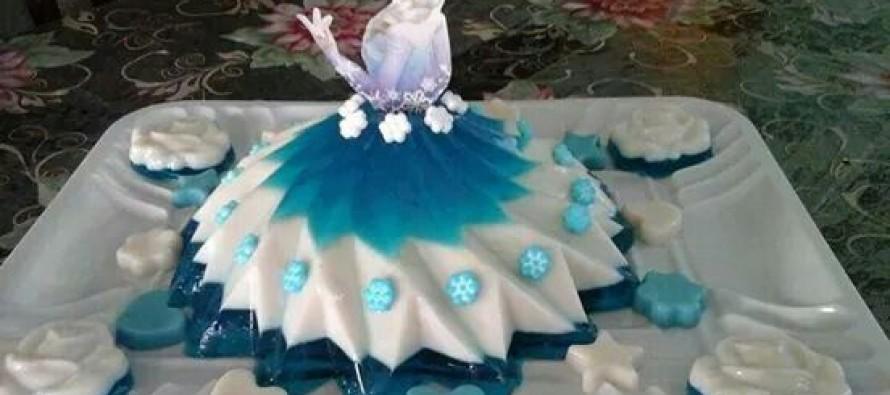 Gelatinas de princesas para fiestas-vestidos
