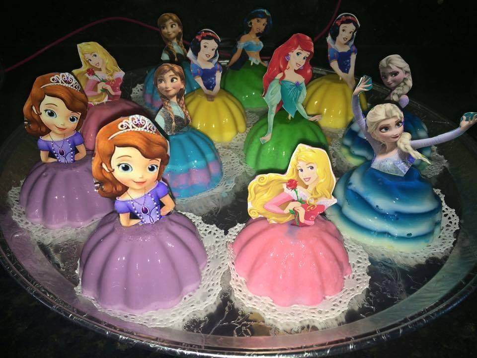gelatinas de princesas para
