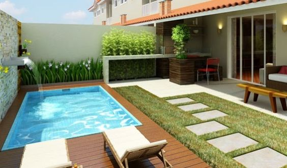 Ideas de patios con picinas 5 curso de organizacion for Patios de casas modernas con piscina