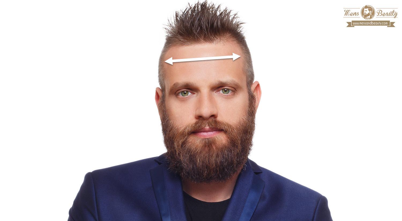 paso 1 mide la frente para conocer el tipo de rostro