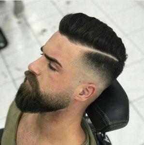 tendencia en cortes de cabello para hombres jovenes con barba 2018