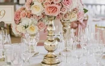 Centros de mesa florales para bodas