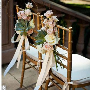 Como decorar las sillas de los novios bodas 8 curso for Sillas para novios en la iglesia