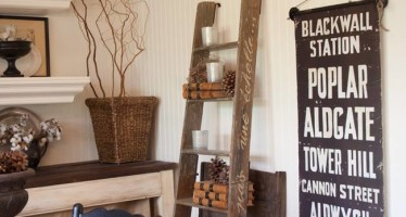 Como incluir en tu decoracion una escalera rustica