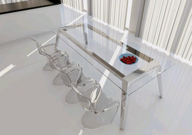 Como usar sillas de acrilico transparente en tu hogar 7 - Sillas acrilico transparente ...