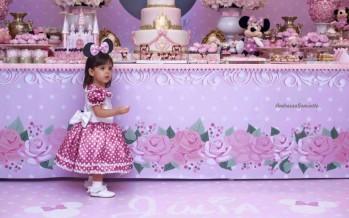 Decoracion de fiesta de cumpleaños de Minnie