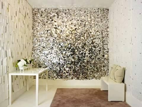 Decoracion de interiores con papel tapiz 1 curso de for Papel para techos exteriores