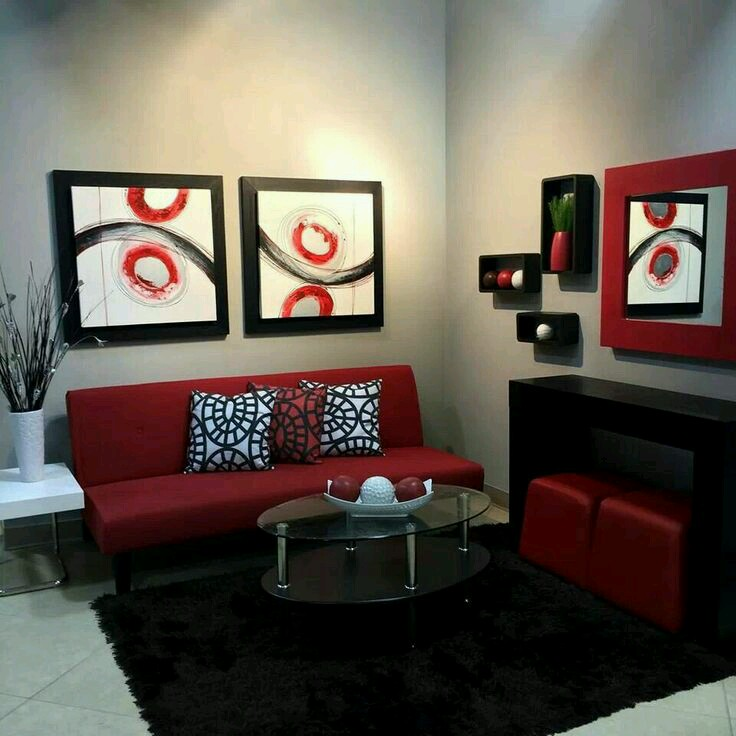 Decoracion de interiores en color rojo 22 curso de for Decoracion de interiores 2016 salas
