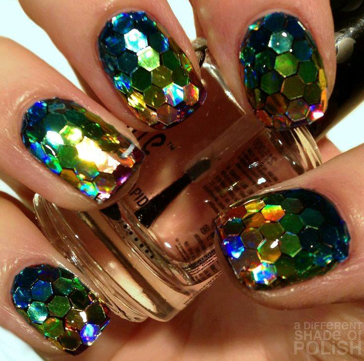 Decoracion de uñas en tonos metalicos y tornasol (20) - Curso de ...