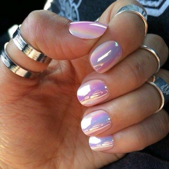 Decoracion de uñas en tonos metalicos y tornasol (24) - Curso de ...