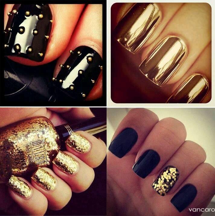 Decoracion de uñas en tonos metalicos y tornasol (5) - Curso de ...