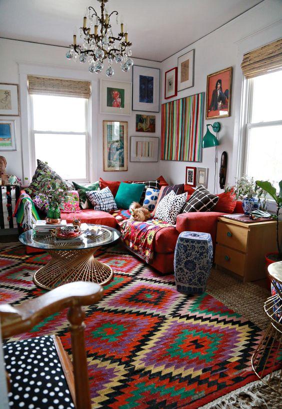 Decoracion hippie chic para living   curso de organizacion del hogar