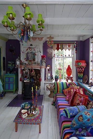 Decoracion hippie chic para living - Curso de Organizacion del hogar