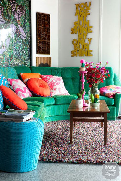 Decoracion hippie chic para living 24 curso de for Muebles hippies