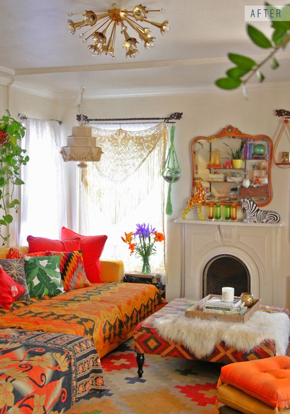 Decoracion hippie chic para living 4 curso de for Muebles hippies