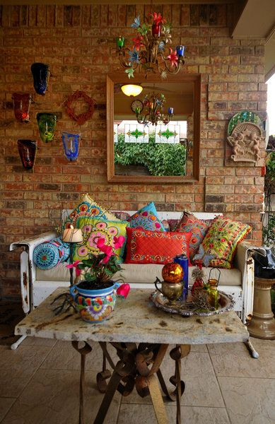 Decoracion hippie chic para living 8 curso de for Muebles hippies