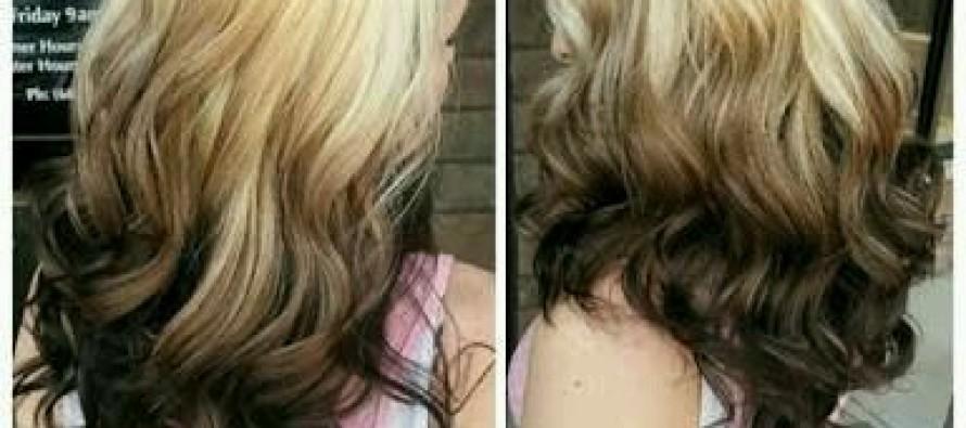 Estilos de ombre hair invertido