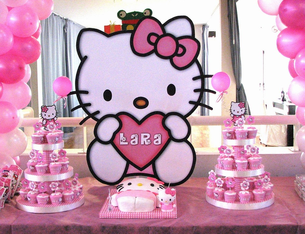 Fiesta tematica de hello kitty curso de organizacion del hogar y decoracion de interiores - Cortinas de hello kitty ...