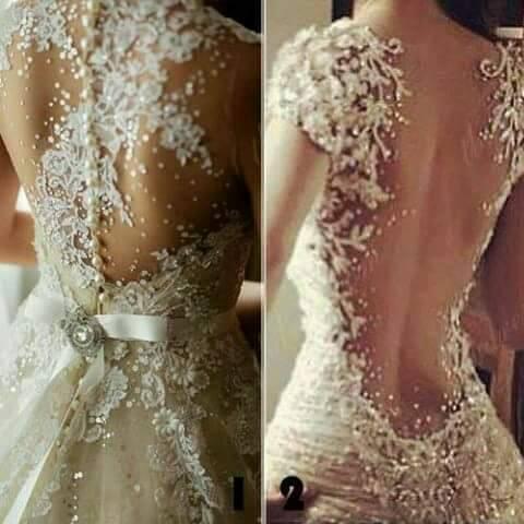Decoraciones para vestidos de novia