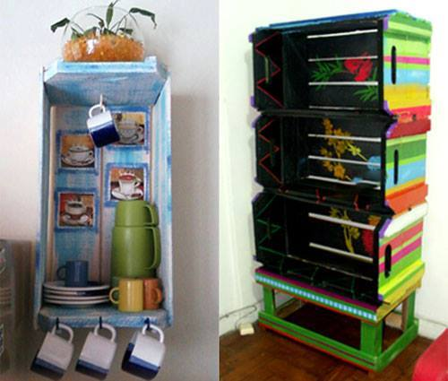 Ideas de como reciclar cajas de madera 21 curso de for Como reciclar muebles de madera