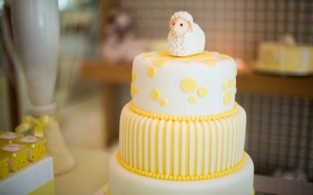 Ideas para baby shower en amarillo
