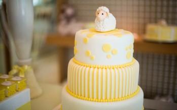 Ideas para baby shower en amarillo