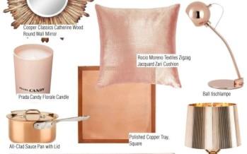 Ideas para decorar tu hogar con color cobre