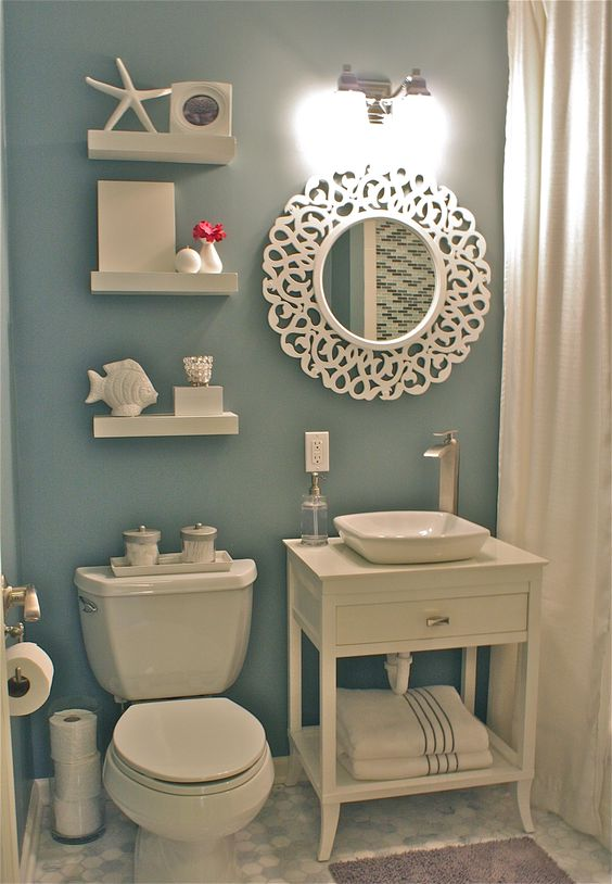 Ideas para decorar y organizar un ba o de visitas 4 for Como decorar el bano de mi casa