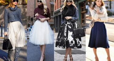Midi skirt la tendencia en faldas