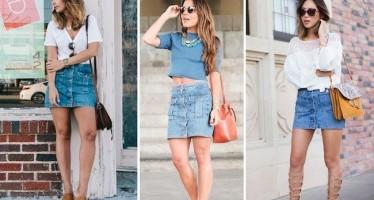 Outfits con faldas de botones