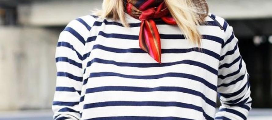 Outfits con pañuelos o mascadas en el cuello