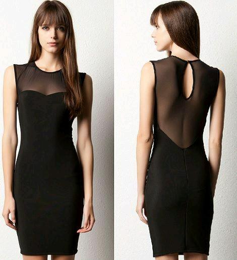 Outfit de vestido negro