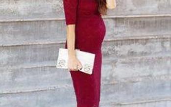 Outfits con vestido para embarazadas