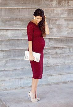 Outfits con vestido para embarazadas - Curso de Organizacion del hogar y Decoracion de Interiores