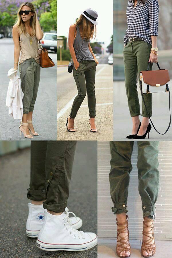 Outfits en tono verde militar (23) - Curso de Organizacion del hogar y Decoracion de Interiores