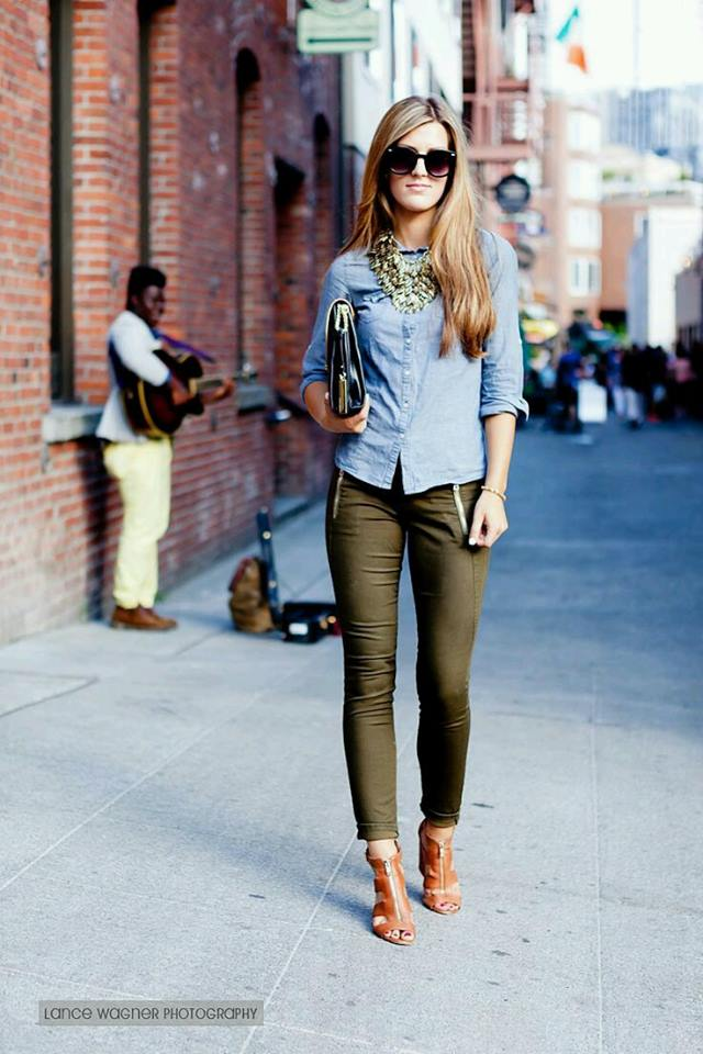 Outfits Sweater Verde Militar