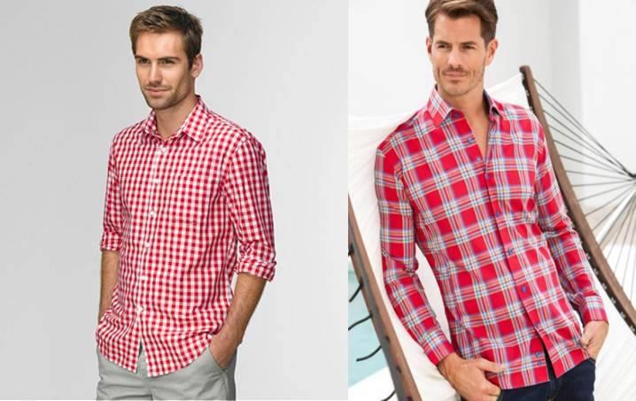 Combinar camisa a cuadros roja hombre