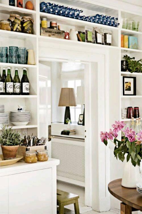Repisas e ideas para ahorrar espacio 13 curso de Decoracion de cocinas pequenas con repisas