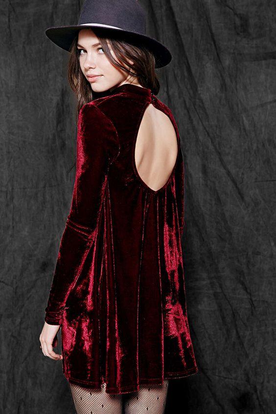 Vestidos de invierno de terciopelo