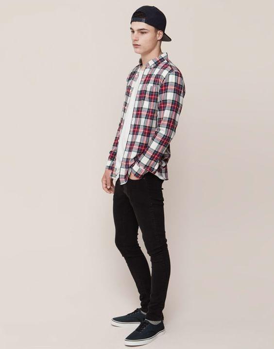 Outfits para hombre con camisa a cuadros 2018