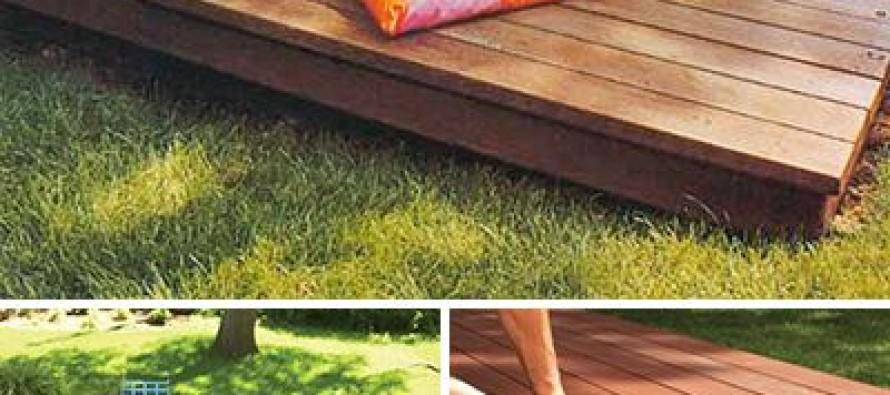 DIY plataformas para tu patio