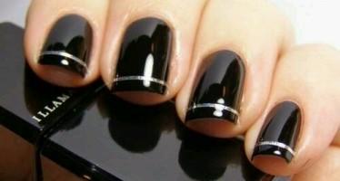Decora tus uñas con estos increibles diseños en negro