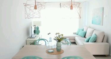 Decoracion de interiores en color menta