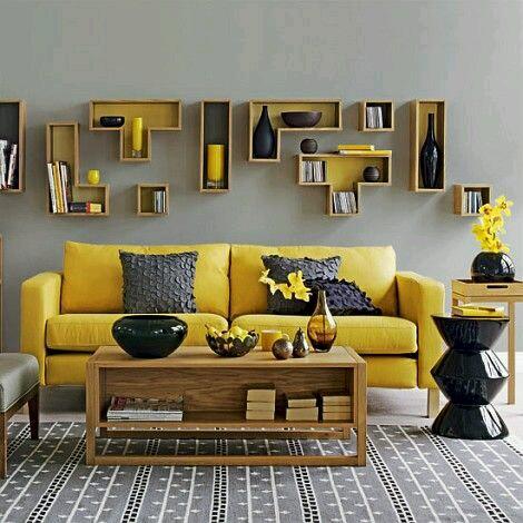Decoracion de interiores en color mostaza 5 curso de for Amoblar departamentos pequenos